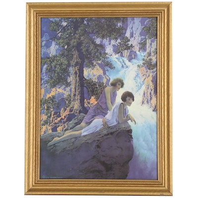 "Offset Lithograph after Maxfield Parrish ""The Waterfall"""