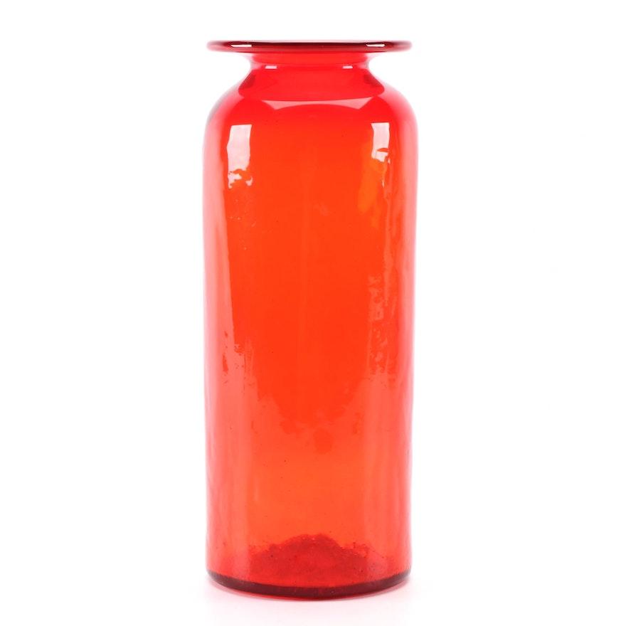 Hand-Blown Art Glass Vase