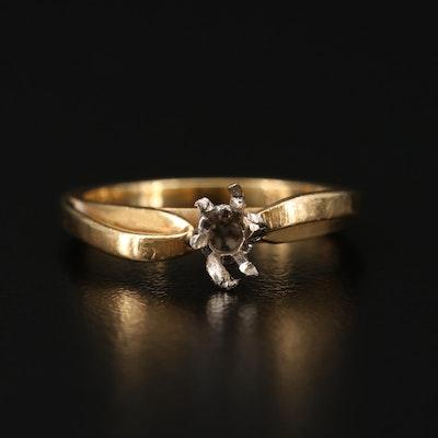 18K Yellow Gold Semi-Mount Ring