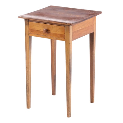 Hepplewhite Style Walnut Side Table