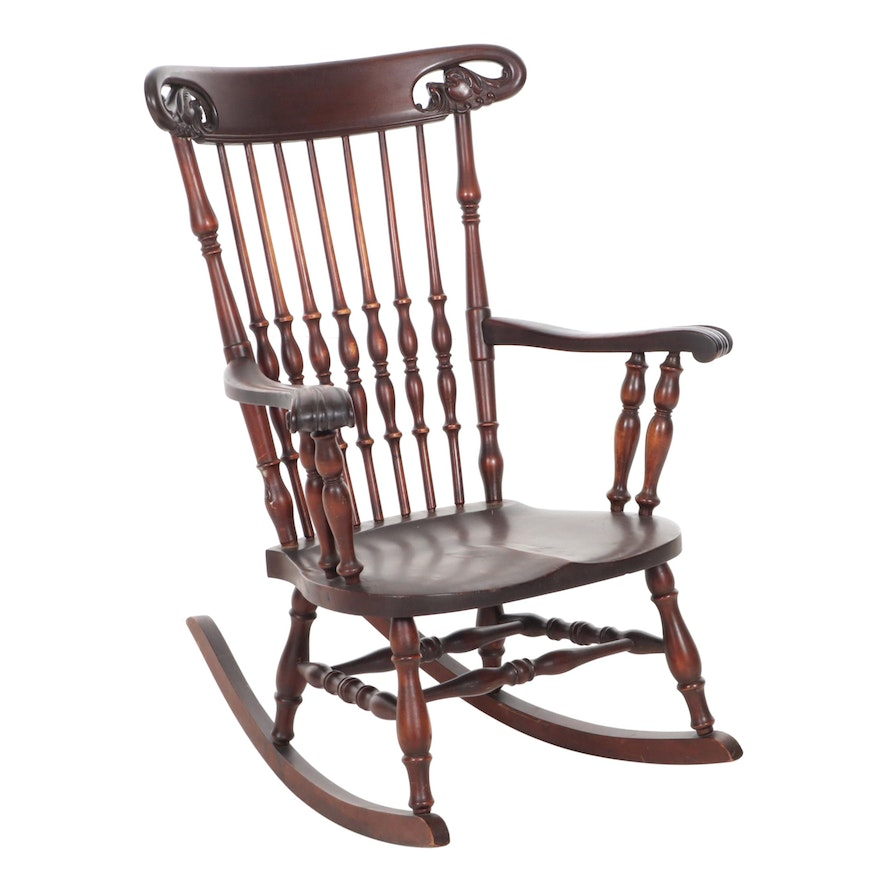Victorian Style Spindle-Back Rocking Chair, Early to Mid 20th Century