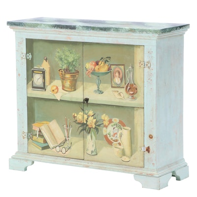 Decorative Hand-Painted Cabinet, Mid to Late 20th Century