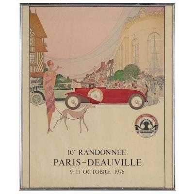 Automotive Vintage Advertising Poster for F.F.A.E. Club de L'Auto, 1976