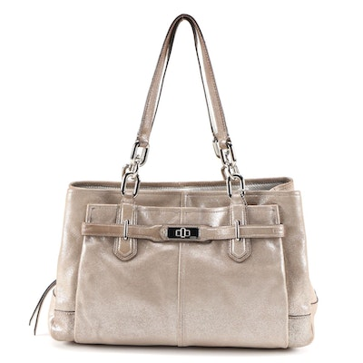 Coach Chelsea Metallic Leather Jayden Carryall Shoulder Bag