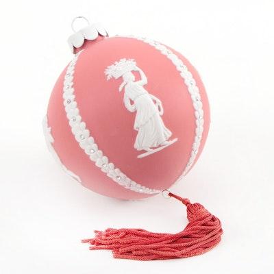 Wedgwood Jasperware Cameo Red Ball Ornament with Tassel