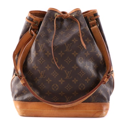 Louis Vuitton Noé Bucket Bag in Monogram Canvas and Vachetta Leather