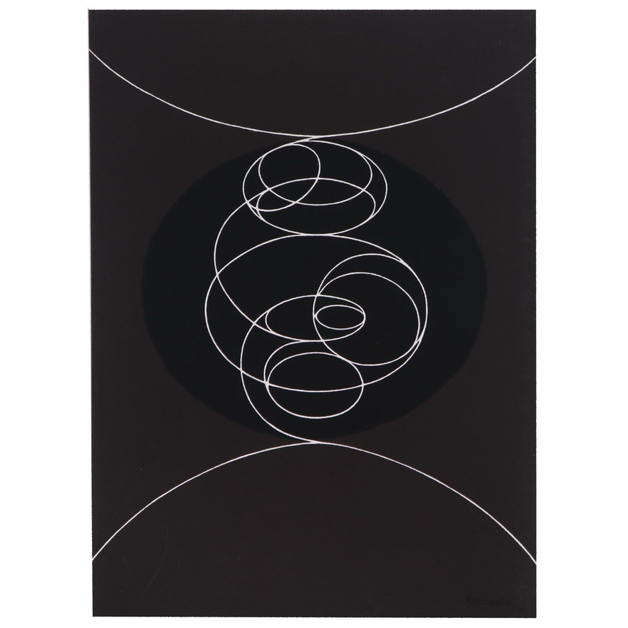 """Pablo Palazuelo Serigraph for """"Derrière le Miroir, nº250"""", 1982"""