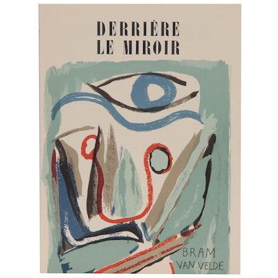 """Bram Van Velde Lithograph Cover for """"Derrière le Miroir nº 43"""", 1952"""