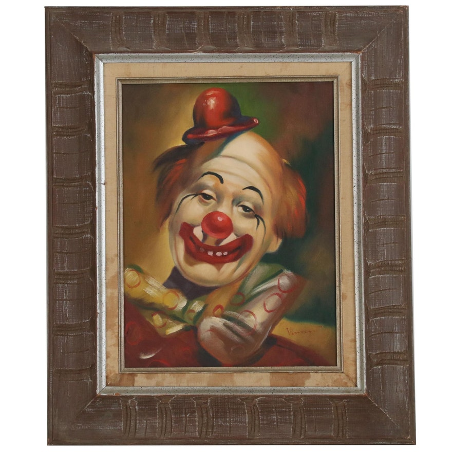 Vincent Oil Painting of a Clown