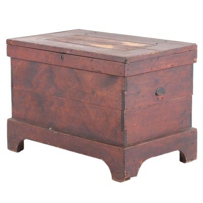 American Primitive Pine Blanket Chest, Late 19th Century