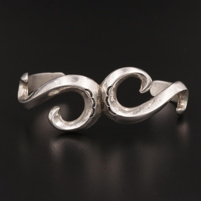 Southwestern 850 Silver Scroll Cuff Bracelet