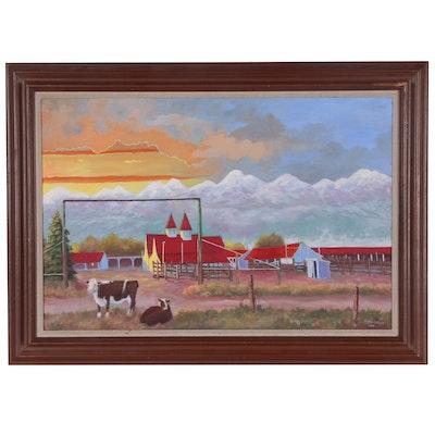 "Asa Battles Oil Painting ""Westcliff"", 2002"