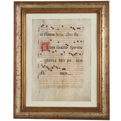 "Illuminated Antiphonal Leaf Excerpt from ""Gloria in Excelsis Deo"""