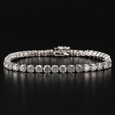 14K White Gold 9.97 CTW Diamond Bracelet