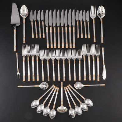 "Wallace ""Golden Aegean Weave"" Sterling Flatware for Eight, Late 20th Century"