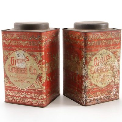 Pair of Gillies Coffee Tins, Early to Mid 20th Century