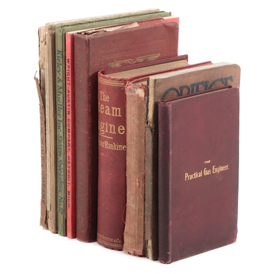 """1891 """"A Manual of the Steam Engine and Other Prime Movers"""" with Other Volumes"""