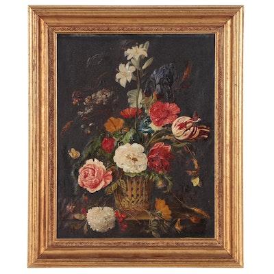 Oil Painting after Jan Davidsz de Heem Floral Still Life