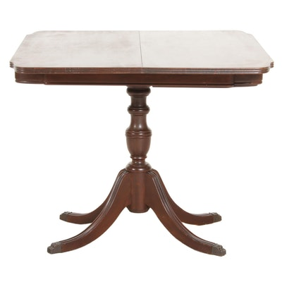 Duncan Phyfe Style Mahogany Swivel Games Table