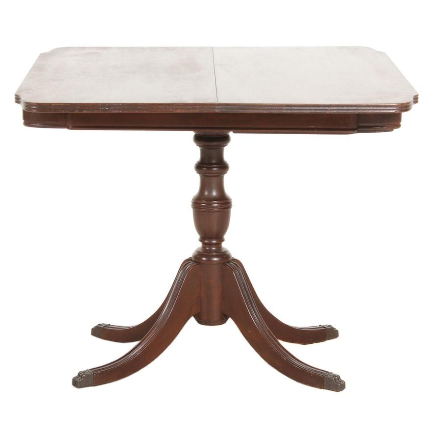 Duncan Phyfe Style Mahogany Swivel Games Table