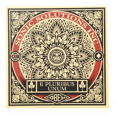 "Shepard Fairey x SSI ""E Pluribus Unum"" Vinyl Album and Signed Cover, 2019"