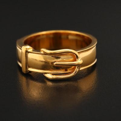 Hermès Buckle Motif Scarf Ring