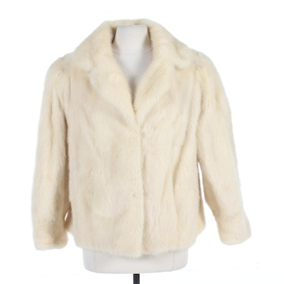Blonde Mink Fur Jacket, Vintage
