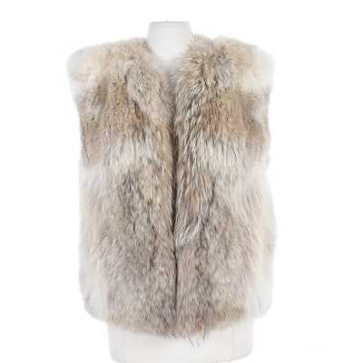 Fox Fur Open Front Vest from The Fur Vault