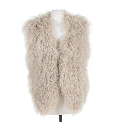 The Peruvian Collection Tibetan Lamb Fur Vest, Made in Italy