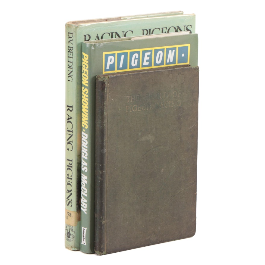 """Pigeon Showing and Racing Books Featuring 1954 """"The Sport of Pigeon Racing"""""""