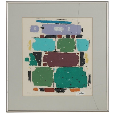 Roland Detre Abstract Modernist Serigraph