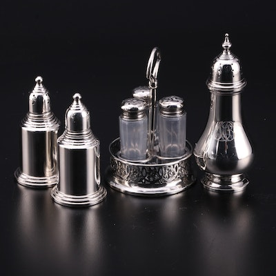 M. Fred Hirsch Sterling Silver Shaker with Other Sterling and Silver Plate