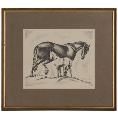 """Alfred Wands Lithograph """"Mom & Colt"""""""