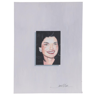 James O'Neill Acrylic Painting of Jacqueline Kennedy Onassis