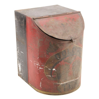 """""""Oolong Tea"""" Storage Tin, Early to Mid 20th Century"""