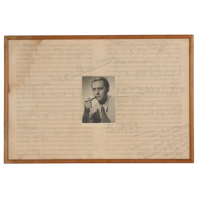 "Daniele Amfitheatrof Signed Hand-Written Sheet Music ""Lassie Come Home"", 1943"