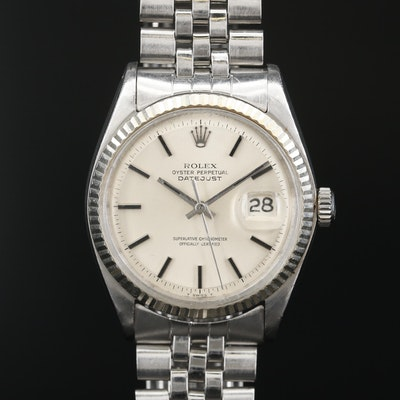 Rolex Datejust 1601 Pie Pan Dial Stainless Steel and 18K Gold Wristwatch, 1968