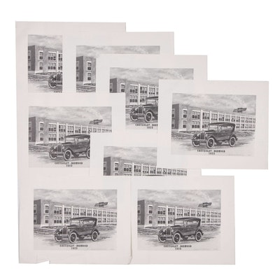 """Rudyard Kipling Halftones """"Chevrolet- Norwood"""", 1989"""