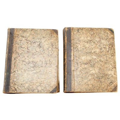 "Leather Bound Editions ""The Country Gentleman"" Two Volumes, circa 1850"