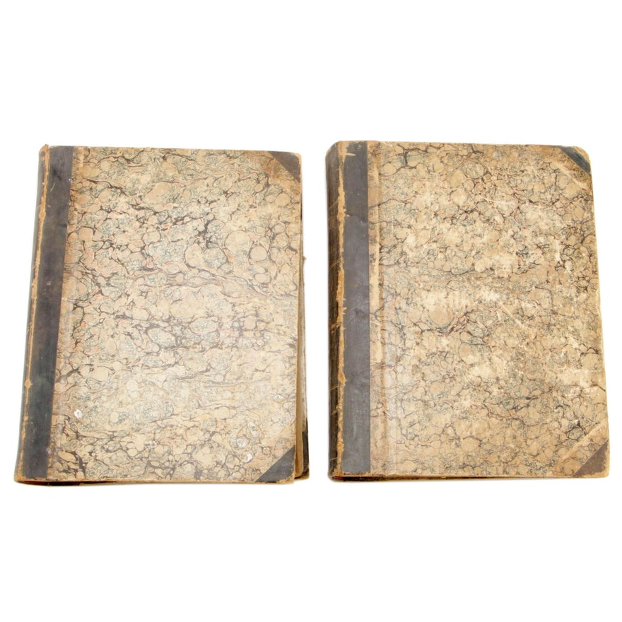 """Leather Bound Editions """"The Country Gentleman"""" Two Volumes, circa 1850"""