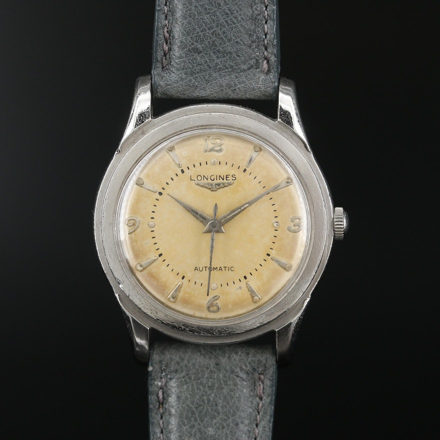 Longines Eagle Stainless Steel Automatic Wristwatch, 1951