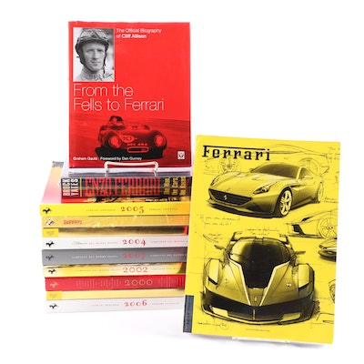 """Official Ferrari Magazines"" with ""Enzo Ferrari"" and ""From the Fells to Ferrari"""