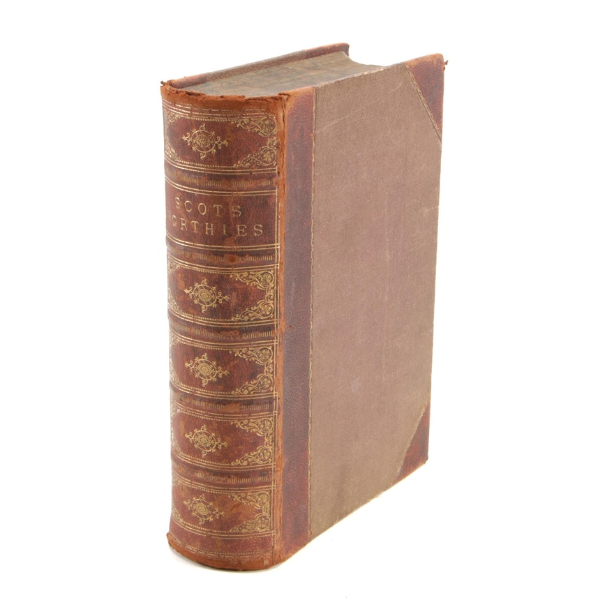 """1879 Leather Bound """"The Scots Worthies"""", Illustrated"""