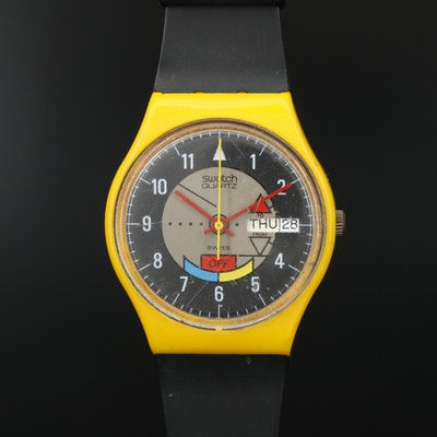 Swatch Yamaha Racer Day-Date Quartz Wristwatch, Vintage