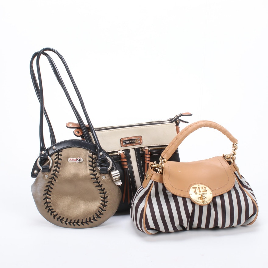 Henri Bendel, Coco + Carmen and Red 24 Leather Handbags