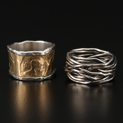 Sterling Silver Rings Featuring Susie Ganch