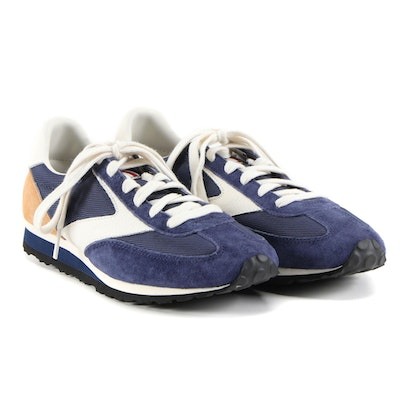 Women's Brooks Vanguard Blue and Tan Sales Sample Sneakers