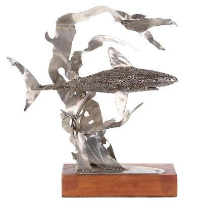 """Shark Solder and Metal Sculpture """"Ambush"""""""