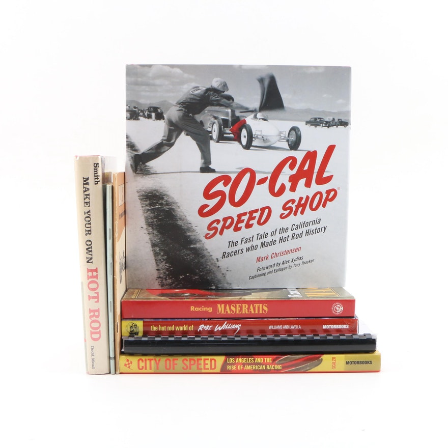 "First Edition ""SO-CAL Speed Shop"" with Other First Edition Automotive Books"