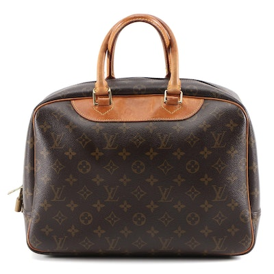 Louis Vuitton Deauville Travel Bag in Monogram Canvas and Vachetta Leather